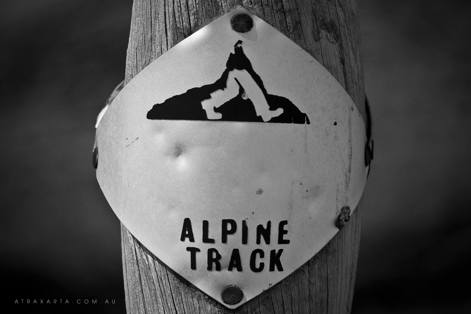 Sign of a track, Mt Bogong, Alpine National Park, Victoria