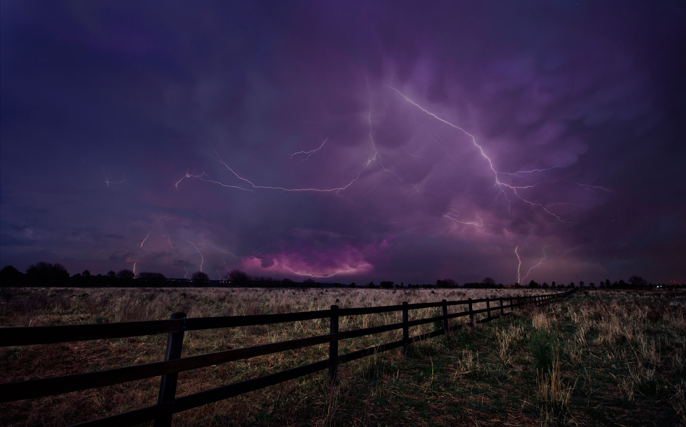 OBAP004, Lightning Strikes over an Australian Farm