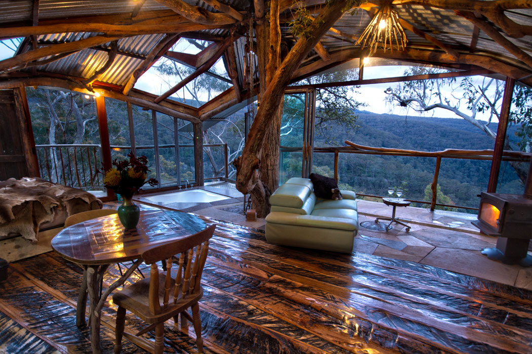 Blue Mountains Treehouse 1, Wollemi Cabins, Blue Mountains Australia
