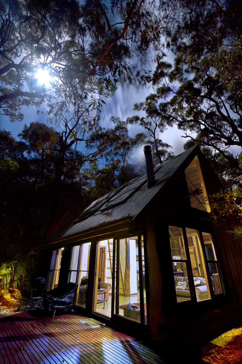Wollemi Cabin Moonlight, Wollemi Cabins, Blue Mountains Australia